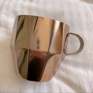 Starbucks Copper Faceted Stainless Steel Mug